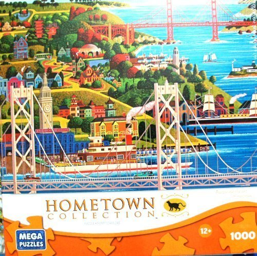 HOMETOWN COLLECTION Featuring the Art of Heronim Bridges of San Francisco 1000 Piece Puzzle by HOMETOWN COLLECTION
