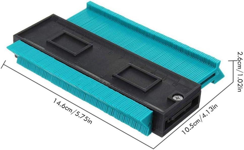 4 pouces//120 mm plastique contour copie duplicateur cadre circulaire outil de jauge de profil bleu,1pcs Jauge de mesure de profil irr/égulier