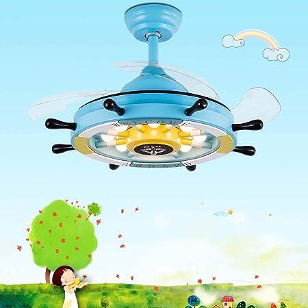 GAOLIQIN Ventilador de Techo de Dibujos Animados LED con Kit de ...