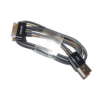Samsung 0701806776624 USB Cable de Datos Ecc1Dp0Ub Galaxy Tablet 2 – 7.0/7.7/8.9 Note 10.1 N8010/P5100/P5110/P7500/P7501 Negro