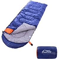 Kuzmaly Camping Sleeping Bag with Compression Sack Lightweight Waterproof Camping Sleeping Bag for Adults & Kids