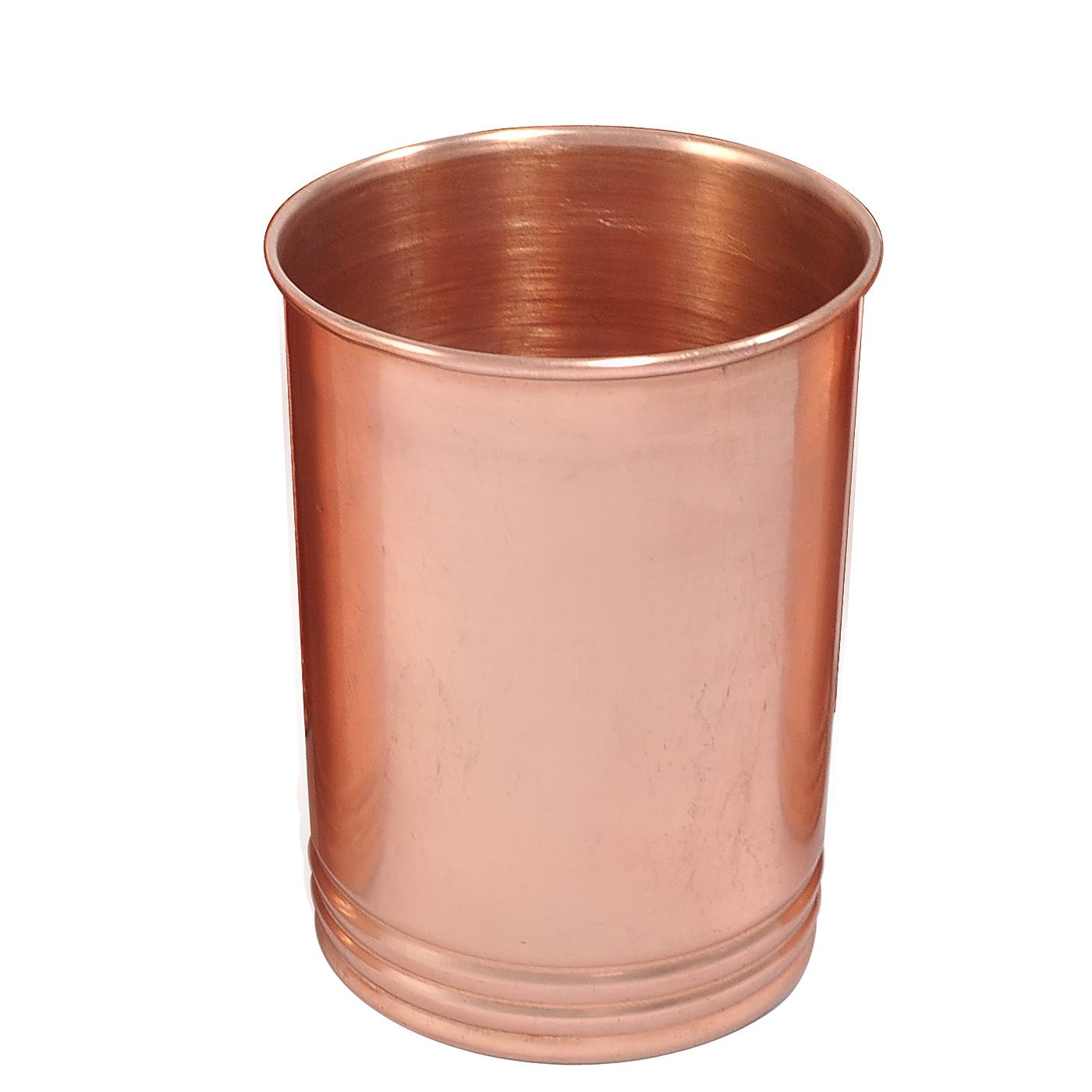 Dungri India Handmade pure Copper glass cup for water - Traveller's Copper Mug for Ayurveda Benefits