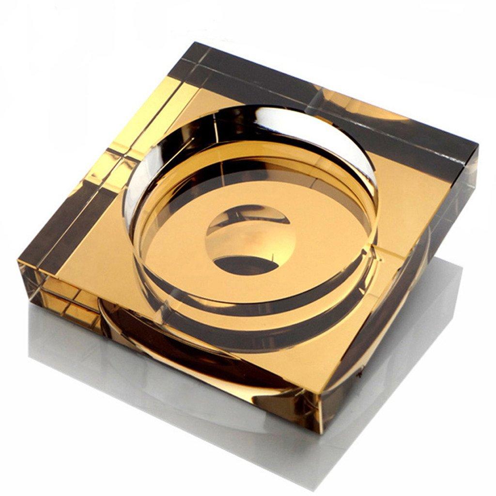 OSONA スクエア 高級 卓上灰皿 Ashtray 灰皿 おしゃれ アッシュトレイ オシャレ 屋外 置物 インテリア クリスタル ガラス ゴルダン 20cm B01HCZ7JSG 20cm|ゴルダン ゴルダン 20cm