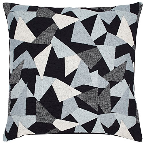 Rivet Modern Mosaic Throw Pillow - 20 x 20 Inch, Blue