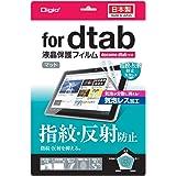 ドコモ タブレット dtab 10.1インチ 2013年発売モデル用 液晶保護フィルム 指紋防止 反射防止 気泡レス加工 TBF-DTB13FLGS