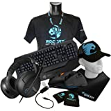 Roccat Ultimate Gaming Pack, Tyon Multi-Button Gaming Mouse, Ryos MK Pro Mechanical Gaming Keyboard UK Layout, Kave XTD Surround Sound Gaming Headset and Taito King-Size Gaming Mousepad 5mm, Black 37cm x 35cm x 59cm