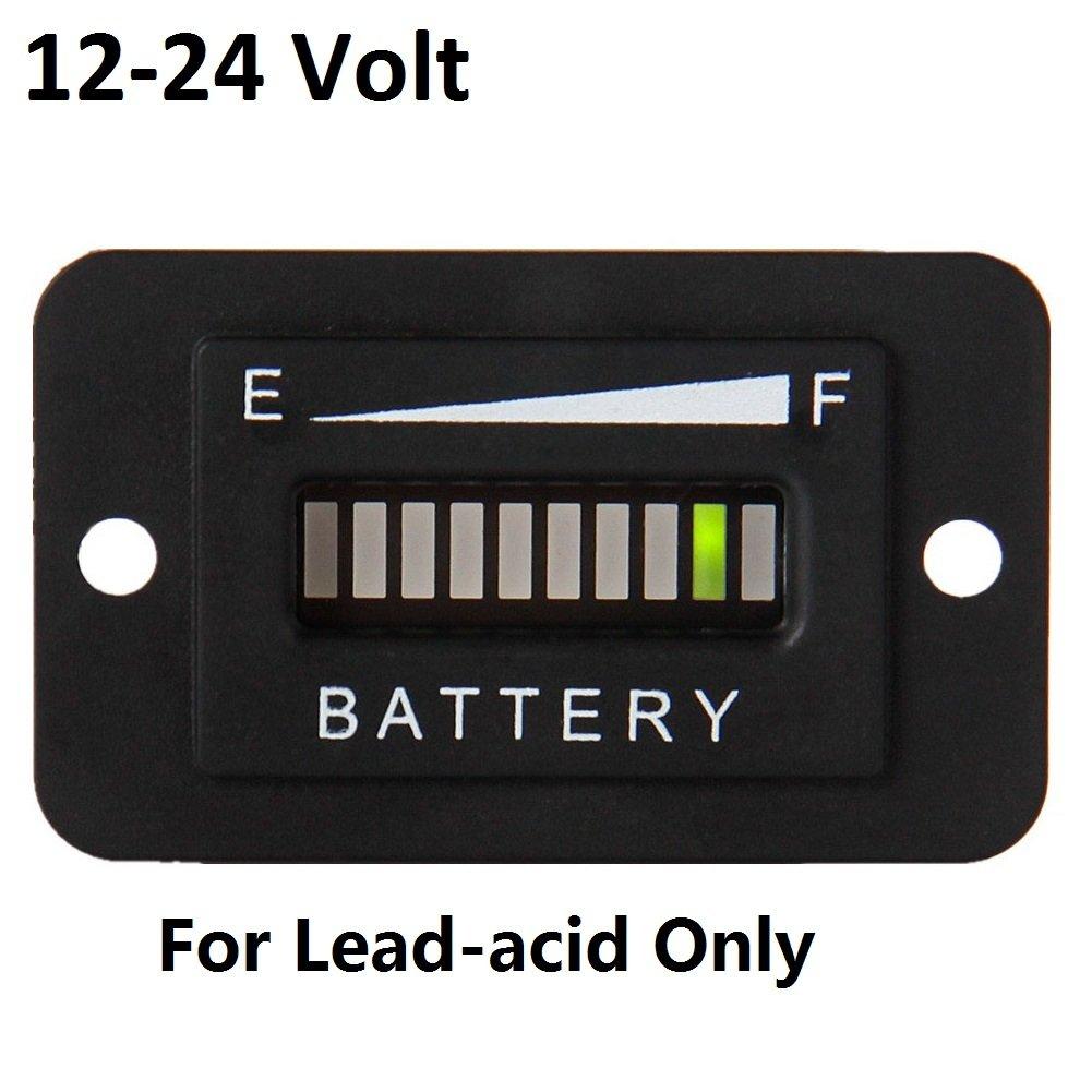 SEARON 24v 12v battery capacity meter waterproof Indicator Meter Guage for EZGO Club Car Yamaha Golf Cart Solar Panel Marine Trolling Motor