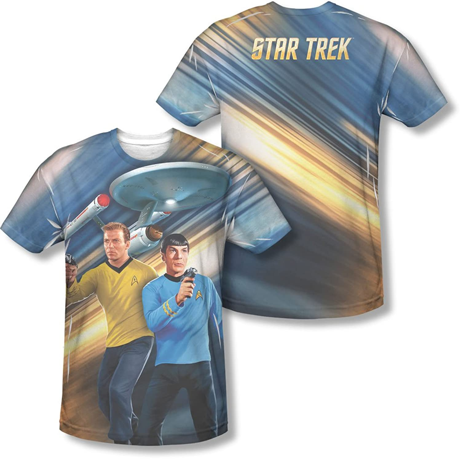 Star Trek - Mens Phasers Down (Front/Back Print) T-Shirt