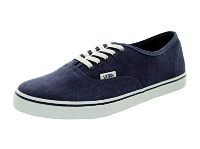 vans authentic lo pro washed denim comfort