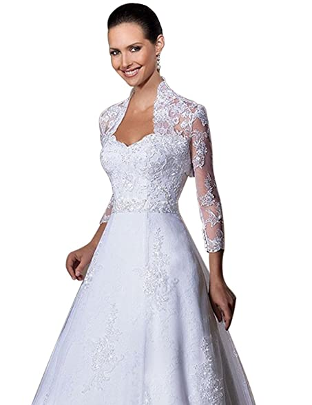 Anne's Accessory Lace Bride Wedding Dress Separate Cardigan Shrug ...
