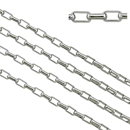 10meters Stainless Steel Tube Beaded Cable Link Chain for DIY Jewelry Making 2mm