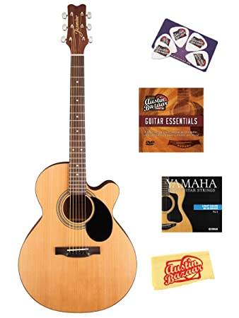 Amazon.com: Jasmine s34 C NEX Cutaway Guitarra Acústica ...