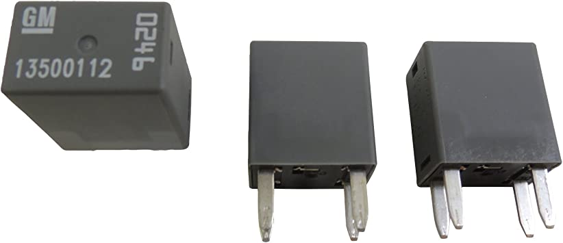 Buick Chevrolet Radiator Fan//Cooling Fan /& Vacuum Pump Relay 3-Pack 13500112