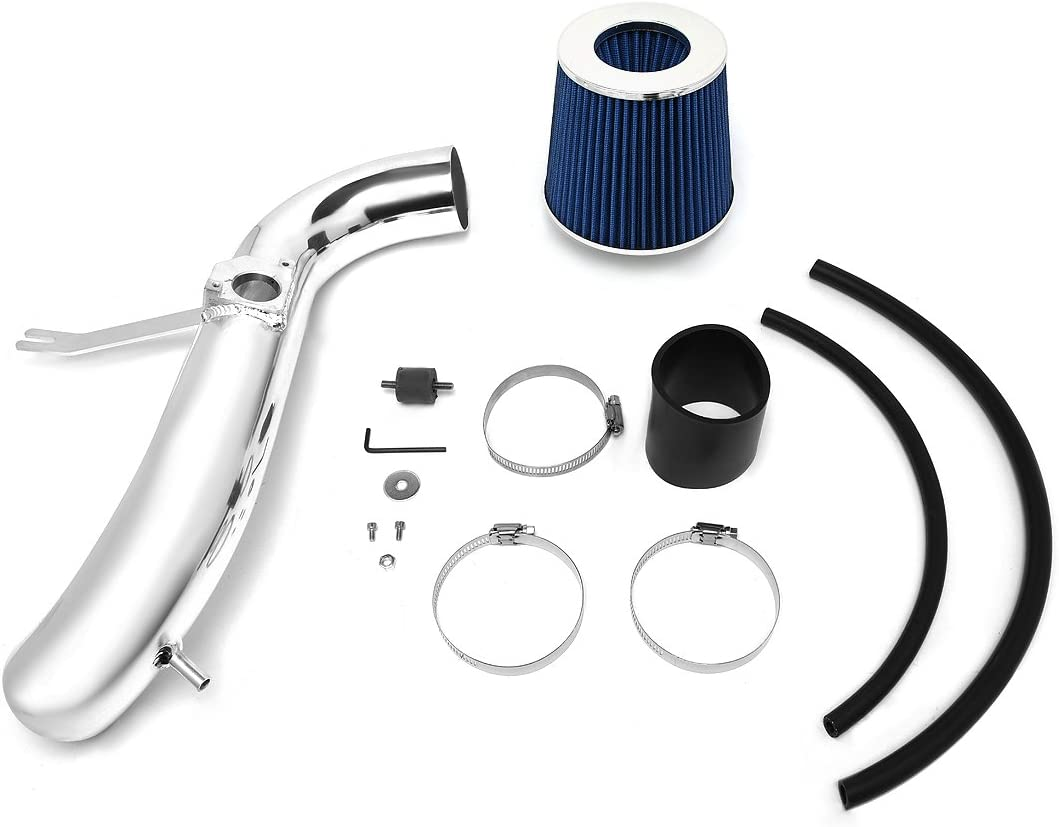 DNA Motoring ITK-0040-BL Short Ram Air Intake System Blue For 01-05 Lexus IS300 3.0L V6