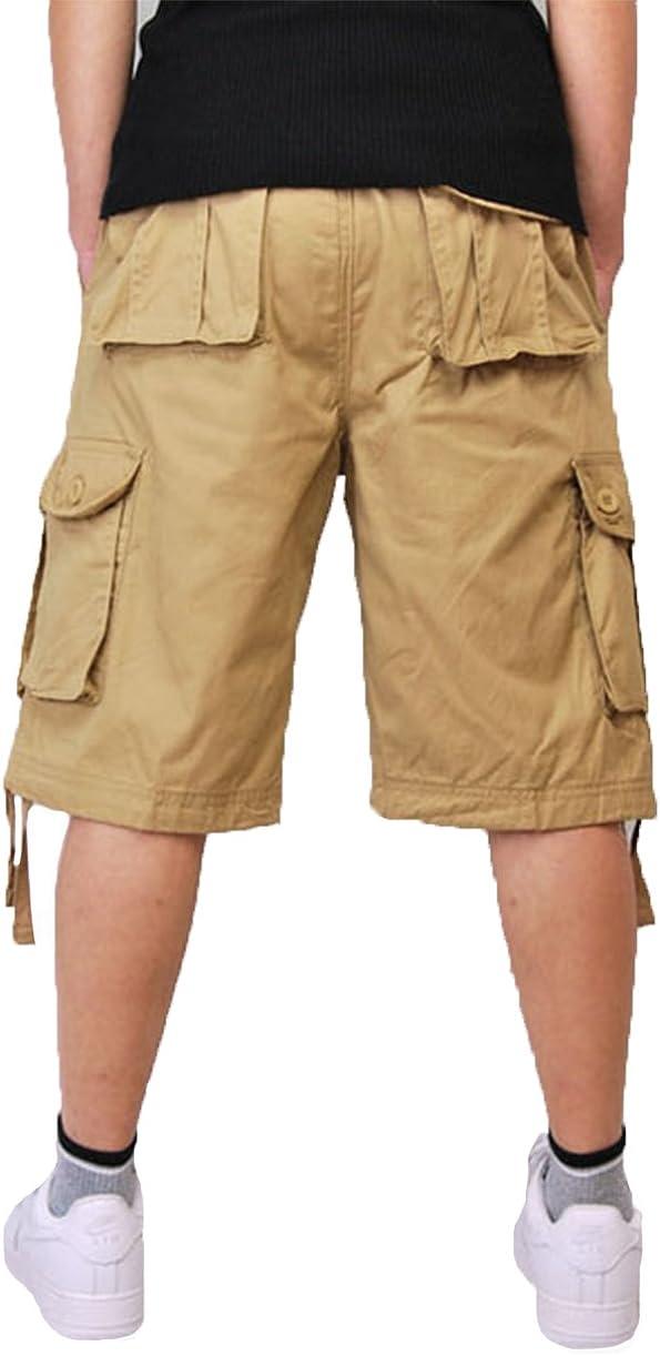Tortor 1Bacha Mens Rugged Multi Pocket Cargo Shorts Khaki 42