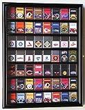 zippo case display - 56 Zippo Lighter Display Case Cabinet Holder Wall Rack -Black