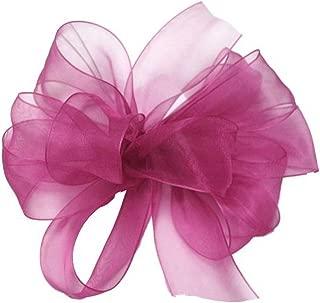 "product image for Offray Berwick LLC 429419 Berwick Simply Sheer Asiana Ribbon - 1-1/2"" W X 100 yd - Fuchsia Ribbon"
