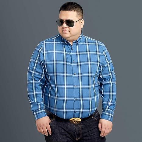WYTX Camisas Camisa A Cuadros Chaqueta De Manga Larga para Hombre, Además De Camisa Suelta De Otoño E Invierno De Gran Tamaño para Hombres Sueltos Gordos: Amazon.es: Deportes y aire libre