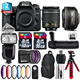 Holiday Saving Bundle for D7500 DSLR Camera + 35mm 1.8G DX Lens + AF-P 18-55mm + Flash with LCD Display + Battery Grip + 6PC Graduated Color Filter + 2yr Extended Warranty - International Version