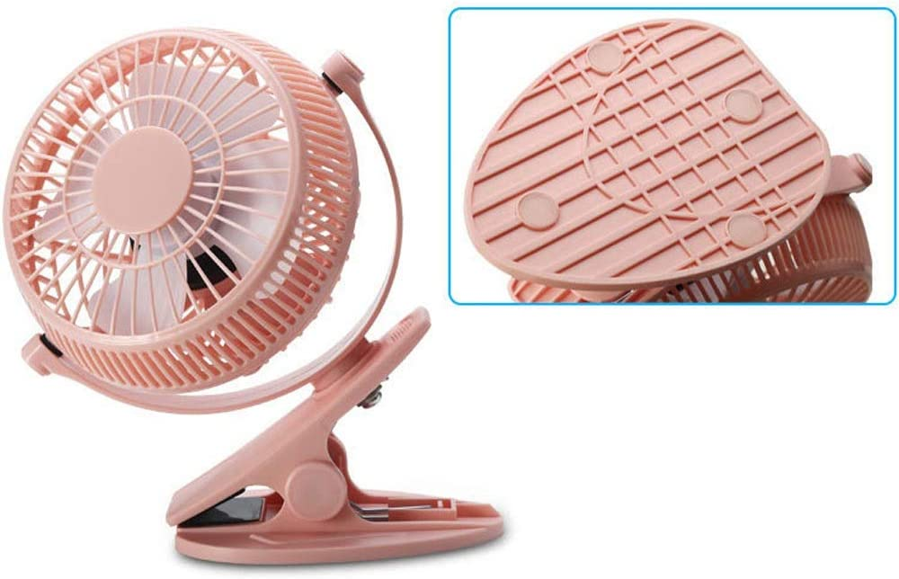 Zxcvlina Portable Personal USB Fan Portable USB Powered Desk Fan Personal Cooling Fan,Small Table Fan Cooling Fan with 2 Speed Color : Pink, Size : One-Size