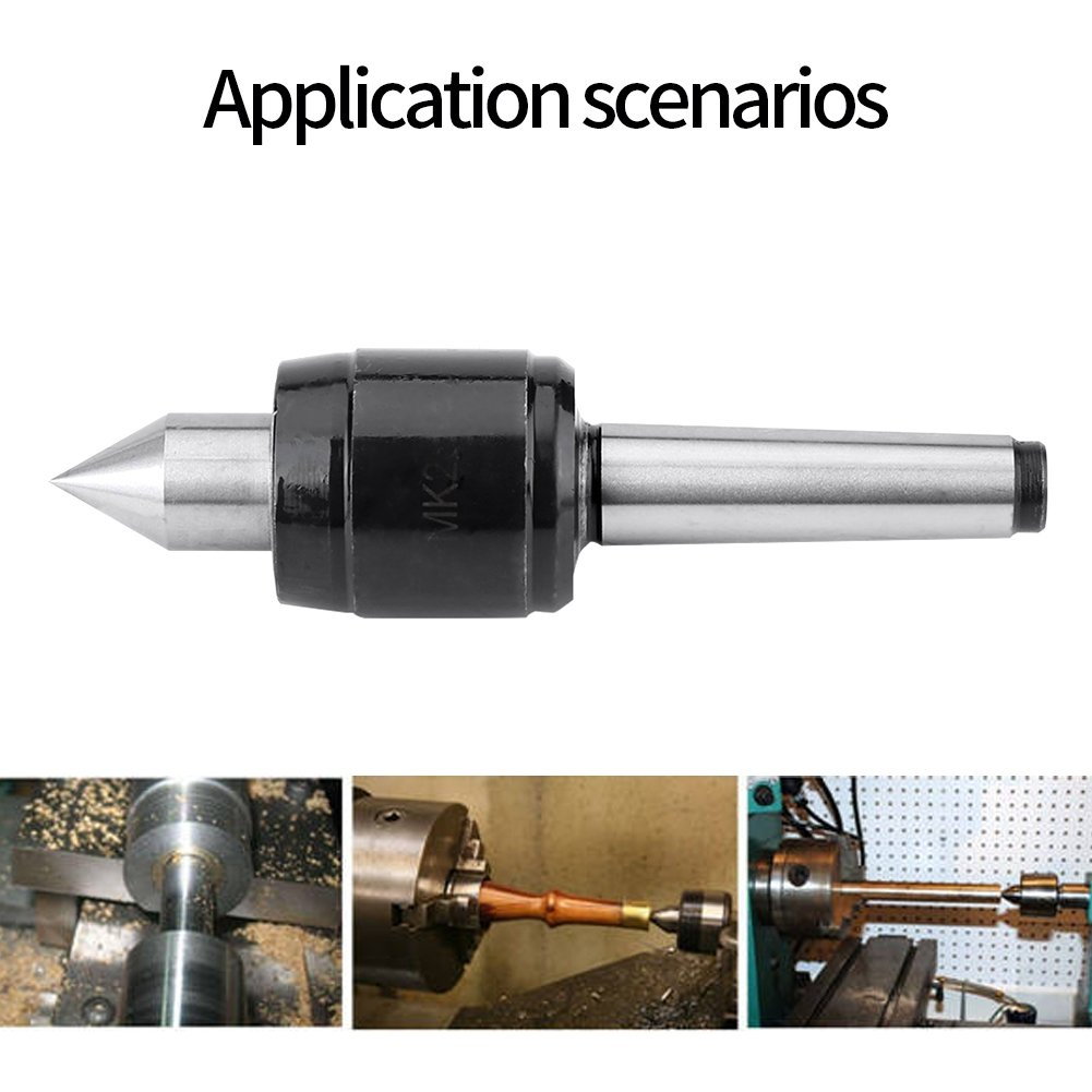 MK2 Live Center Revolving Center Point Precision Revolving Steel Point 60 Degree for Machine Taper CNC Lathe Tool