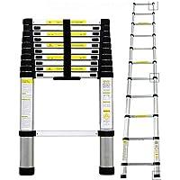 Todeco  Echelle Telescopique, Échelle Pliable - Charge maximale: 150 kg - Matériau: Alliage en aluminium - 3,2 mètre(s), EN 131