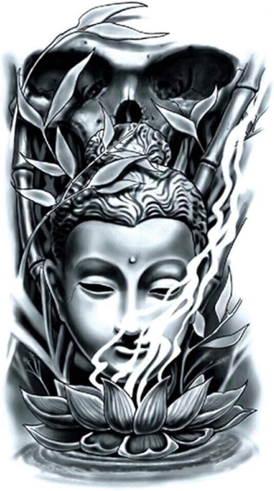 Nuevas pegatinas de tatuaje de brazo de flor medio brazo Buda ...