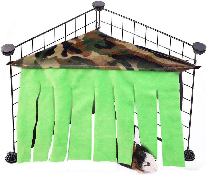 Oncpcare Hamaca 3 en 1 de Guinea Pig para esconderse, Cama esquinera de Forro Polar para Jaula, caseta de Mascotas pequeña, Nido para Conejo, Conejo, Conejo, Erizo, Ardilla, hurón y Otros