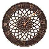 Whitehall Products Spiral Outdoor Thermometer in Antique Copper