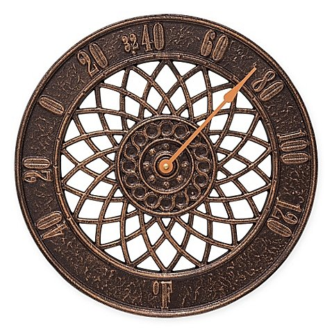 Whitehall Products Spiral Outdoor Thermometer in Antique Copper by Whitehall