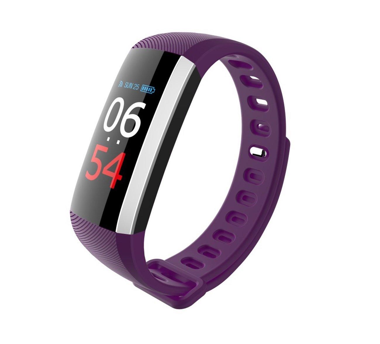 yzfdbsx Fitness Trackerハートレート血圧Oxygenスポーツブレスレット防水歩数計カラー画面Caller Infoプッシュ B07BL549Z1