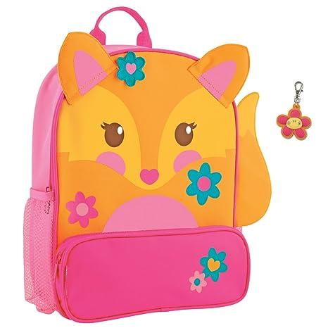 Stephen Joseph Sidekick Fox – Tirador de cremallera de flores y mochila mochilas para niñas