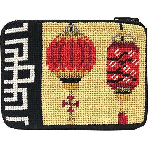 Chinese Lanterns Needlepoint Coin Purse Kit-- Stitch & ()