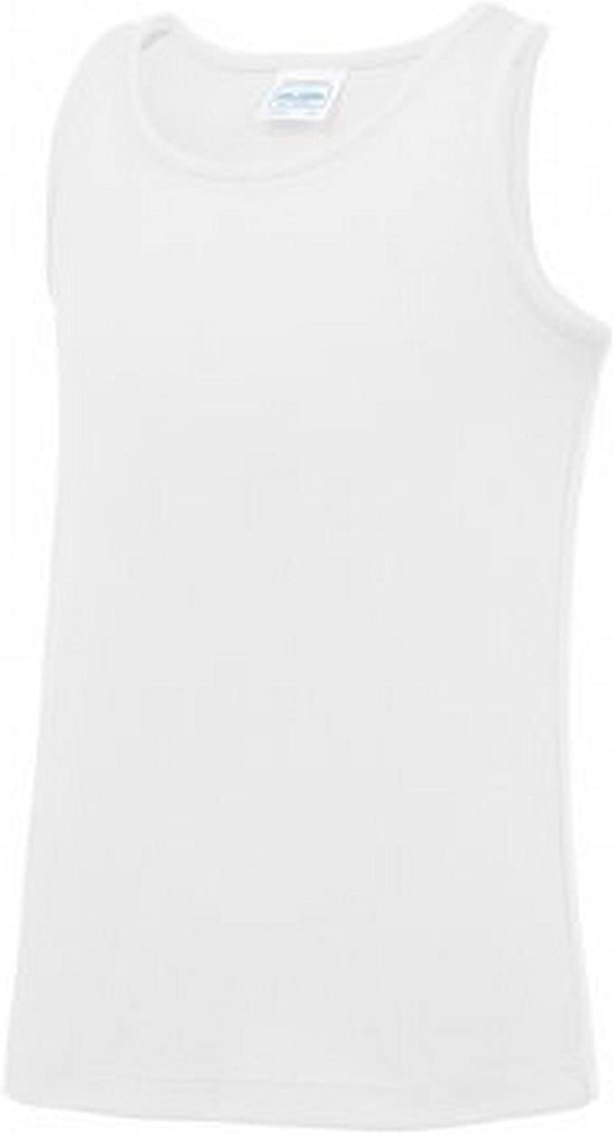 Arctic White AWDis Childrens//Kids Just Cool Sleeveless Vest Top 5-6 Years