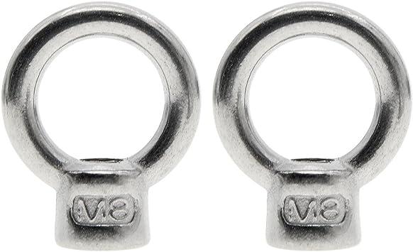 Saim M8 Innengewinde Ring anheben Ringschraube Edelstahlschraube Schraube 10 St/ücke