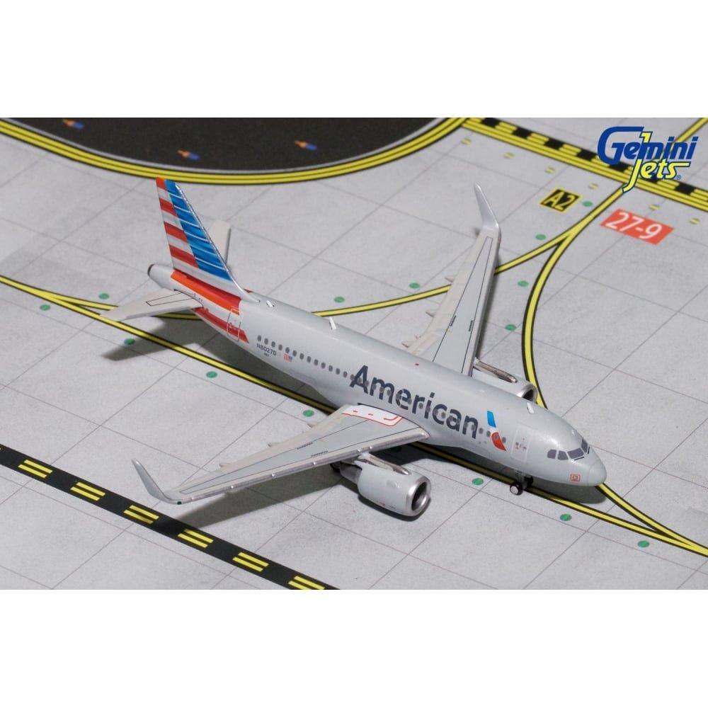 Gemini Jets 1:400 Airbus A319(s) AMERICAN Reg - N8027D B079XWQTTM