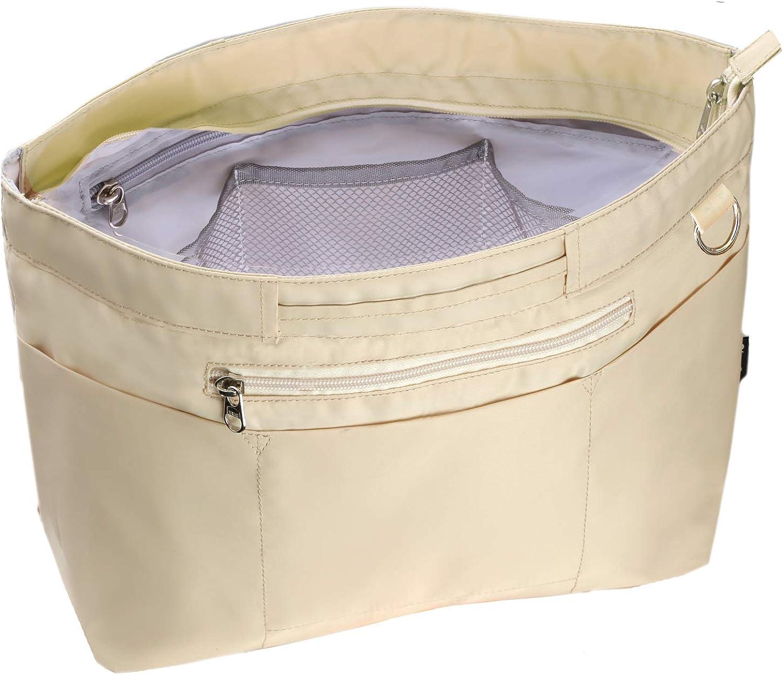C two Q バッグインバッグ インナーバッグ 軽量 自立 大容量 収納 バッグ ベージュ