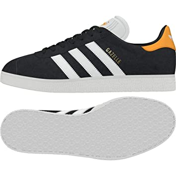 free shipping 619bc 39ed1 adidas Gazelle Chaussures de Fitness Homme, Gris (CarbonFtwblaOrorea 000)
