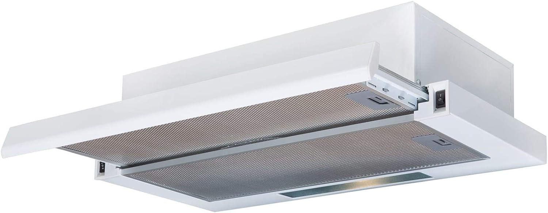 Sia tsc60wh 60 cm telescópica Campana Extractor ventilador en color blanco: Amazon.es: Grandes electrodomésticos