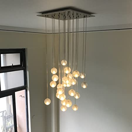 Injuicy Lighting Modern Magic Clear Crystal Ball Pendant Lamps Shades G4 Led Edison Ceiling Lights