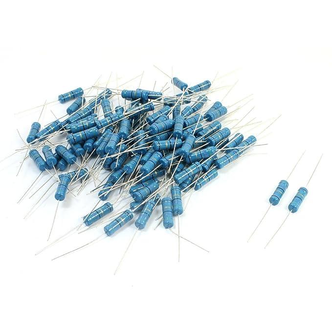 100PCS 47 Ohm 3W Resistance Fixed Metal Oxide Film Resistors Blue ...