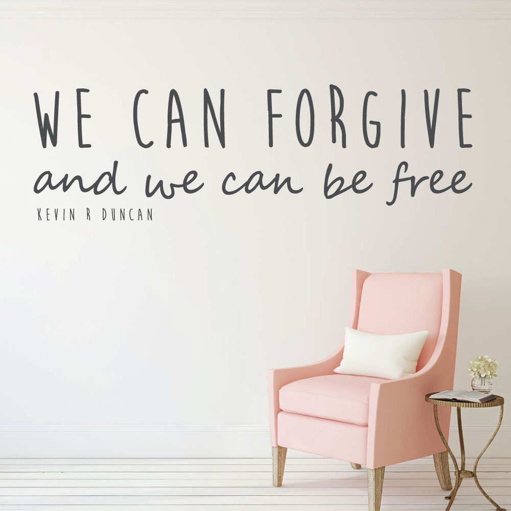 Christian Wall Decor - LDS Quotes - We Can Forgive And We Can Be Free - Religious Decals for Home, Bedroom Wall Art Decor
