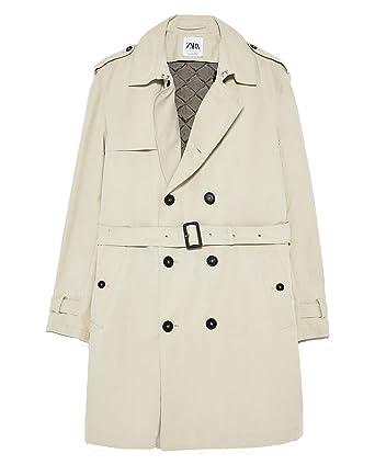 24f5c3e3 Zara Men's Water-Repellent Trench Coat 2753/420 Beige: Amazon.co.uk ...