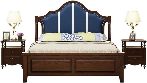 Amazon.com: KALMAR Bedroom Bed-Modern Simple Double Bed ...