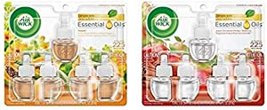 Air Wick Plug in Scented Oil 5 Refills, Hawaii, (5x0.67oz), Essential Oils, Air Freshener and Air Wick Plug in Scented Oil 5 Refills, Apple Cinnamon Medley, (5x0.67oz), Essential Oils, Air Freshener