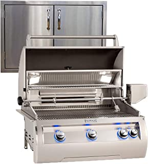 "product image for Fire Magic Echelon Diamond E660i 30"" Natural Gas Grill w/Analog Thermometer and Made in USA 30"" Best of Backyard Double Door"