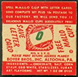 "Mallo Cup Save Letter Card""O"" 1950s Boyer Bros"