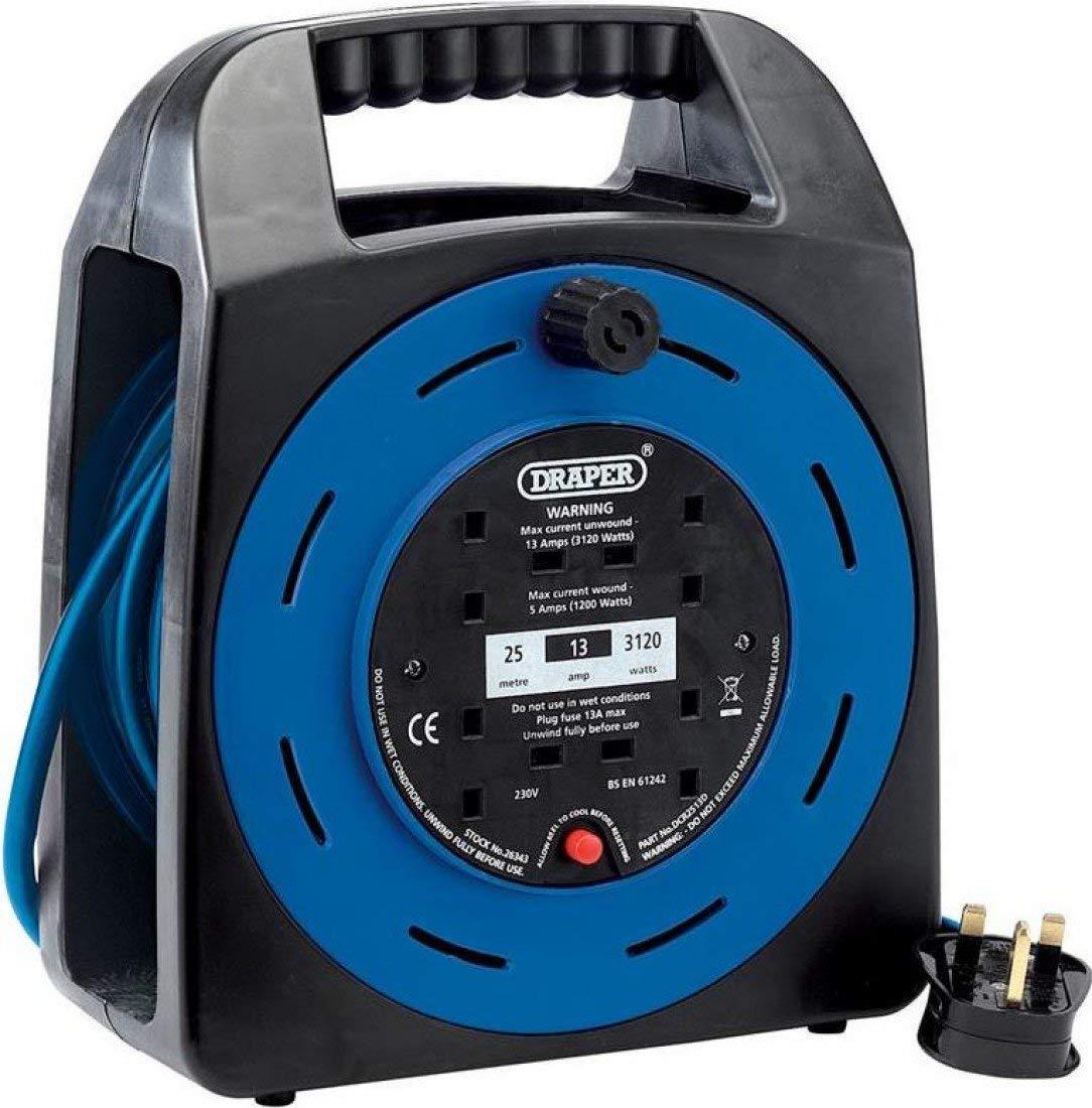 Draper DCR2513D - Alargador de cables (24 voltios)