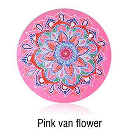 wordeye Esterilla de Yoga de meditación Redonda pequeña ...