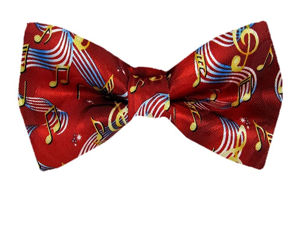 Mens Musical Notes Pre Tied Bow Tie PBTN-170-1